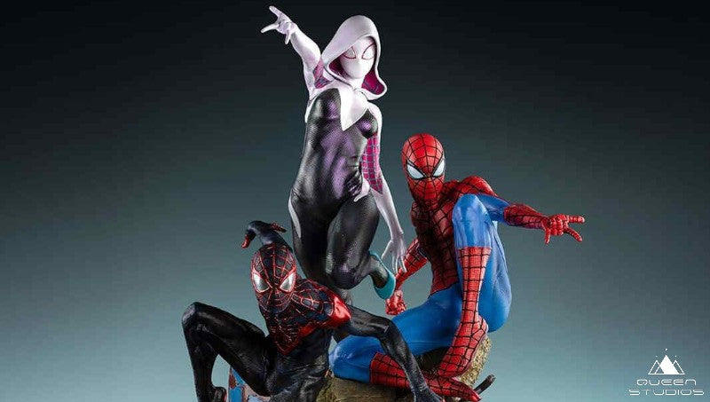 Story Behind the Amazing Spider-Verse Trio Statue by Queen Studios
