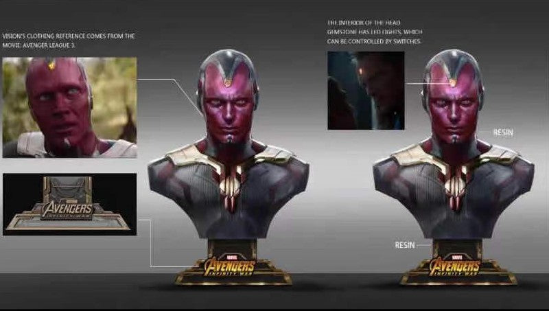 Vision Bust Design Changes