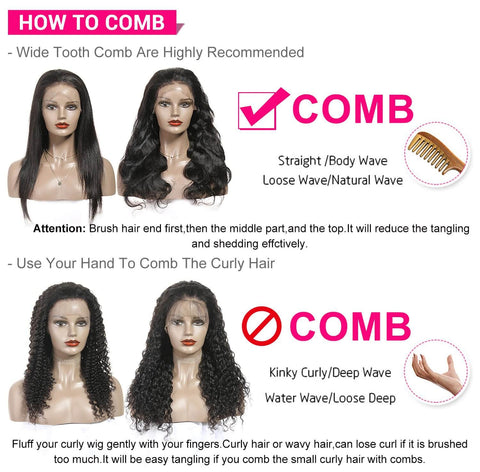 how to comb wigs
