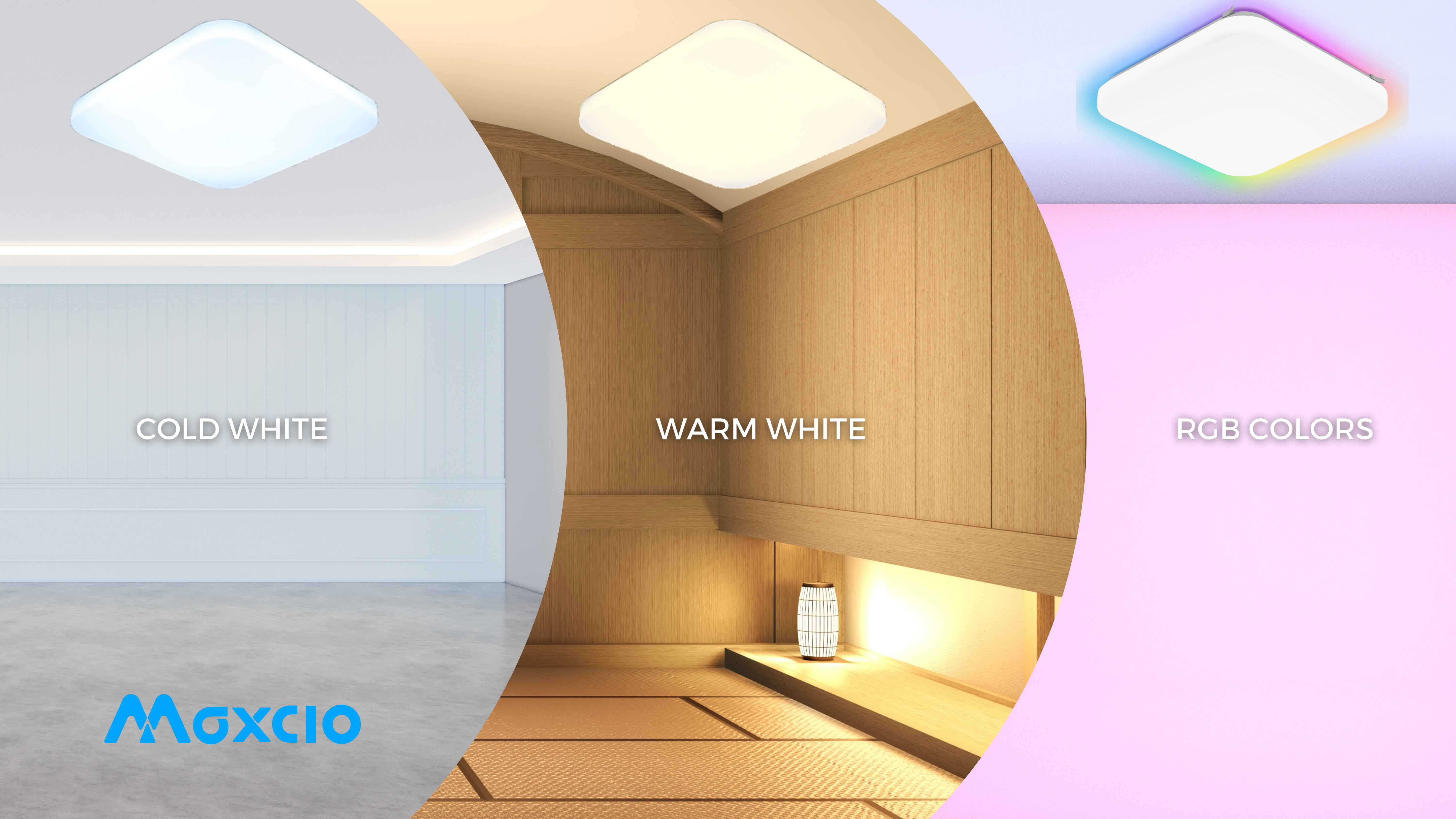 Smart Square Ceiling Lights for Different Colors