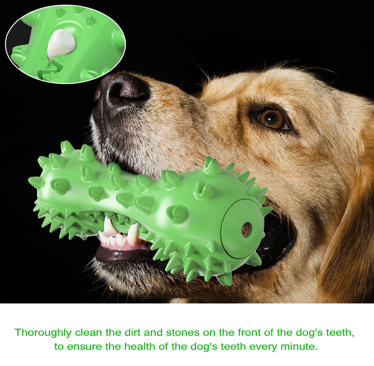 PETDURO Dog Toy Toothbrush Chew Stick Indestructible Teeth Cleaning Squeaker