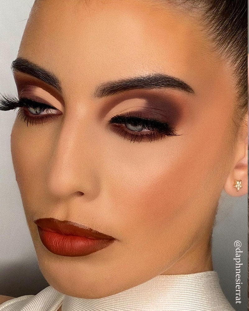 valentine's day makeup Cut Crease Eyeshadow Nude Lips