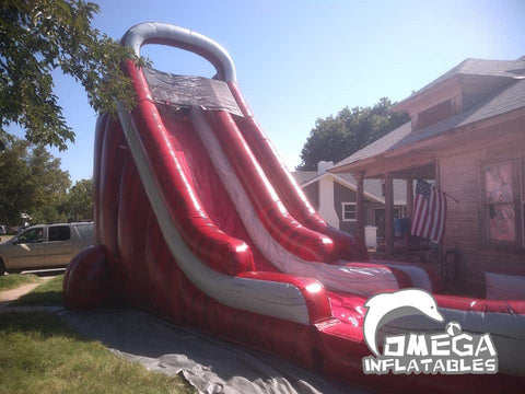 22FT Marble Red Water Slide