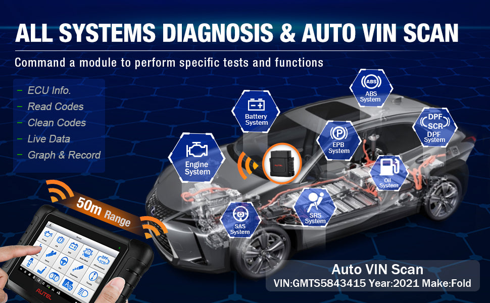 Autel MP808BT Scanner Full System DIagnostic and Auto Scan