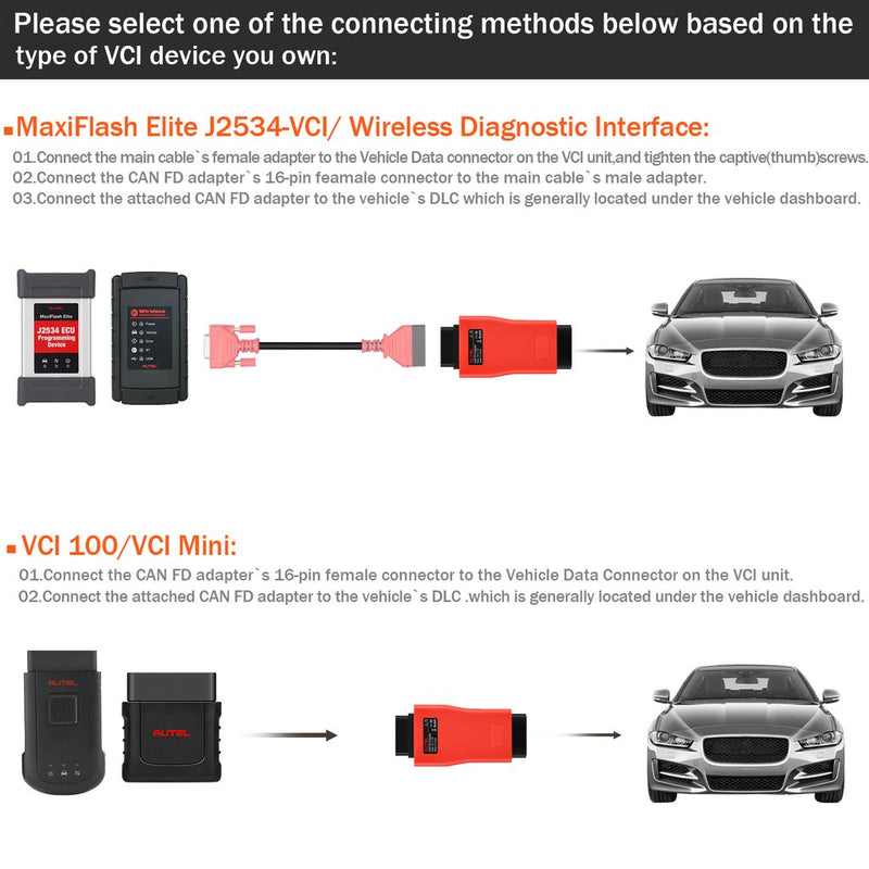 How to Use Autel Can FD Adapter?