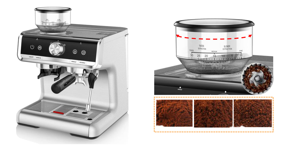iTOP 5020 coffee machine home espresso coffee maker with coffee grinder