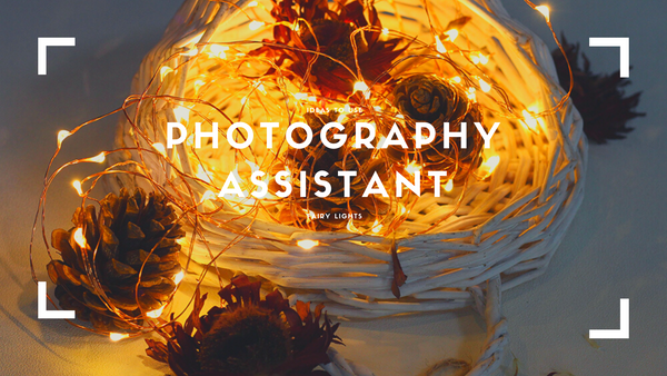 use fairy lights as photography assistant