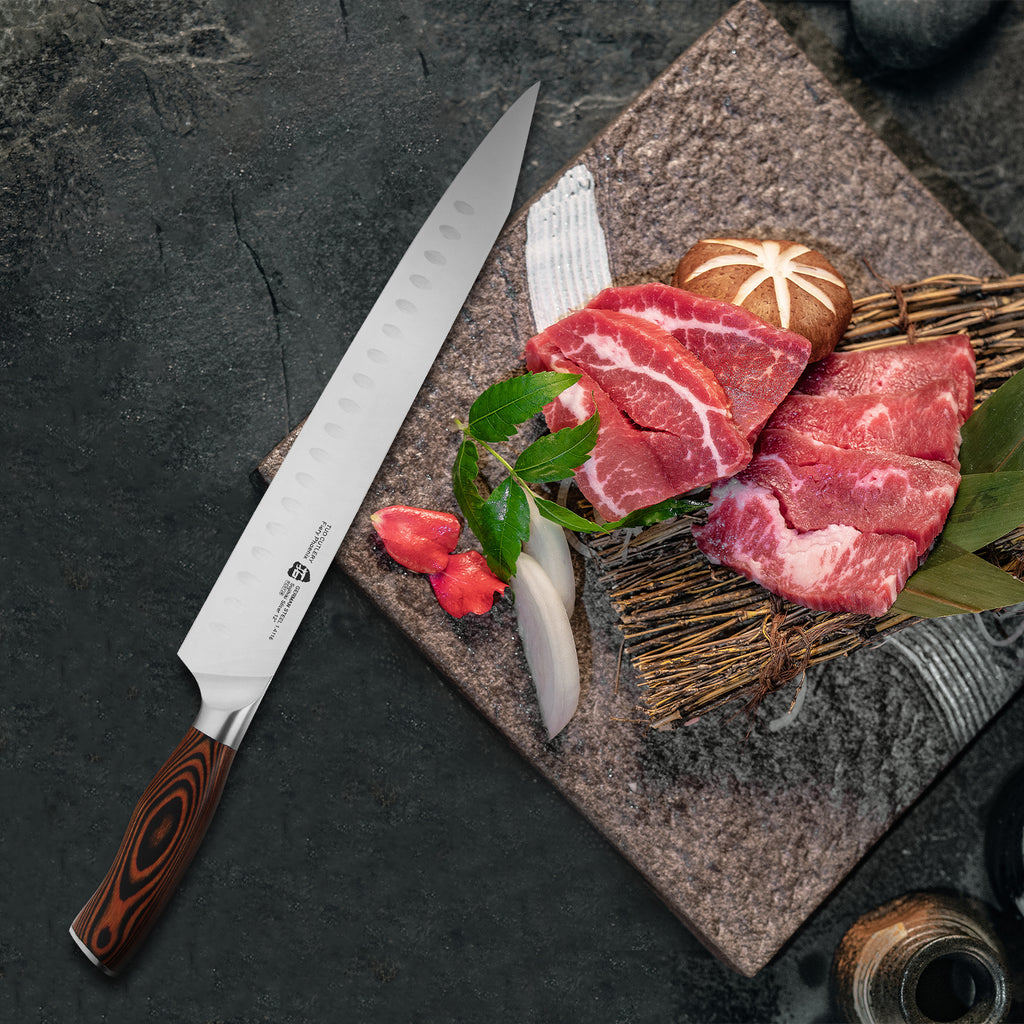 Tuo Cutlery, Sujihiki Knife, Japanese Knife, Asian Knife, Premium High Carbon Stainless Steel, Full Tang, Ergonomics handle, Meat Knife, Slicing Knife, Carving Knife