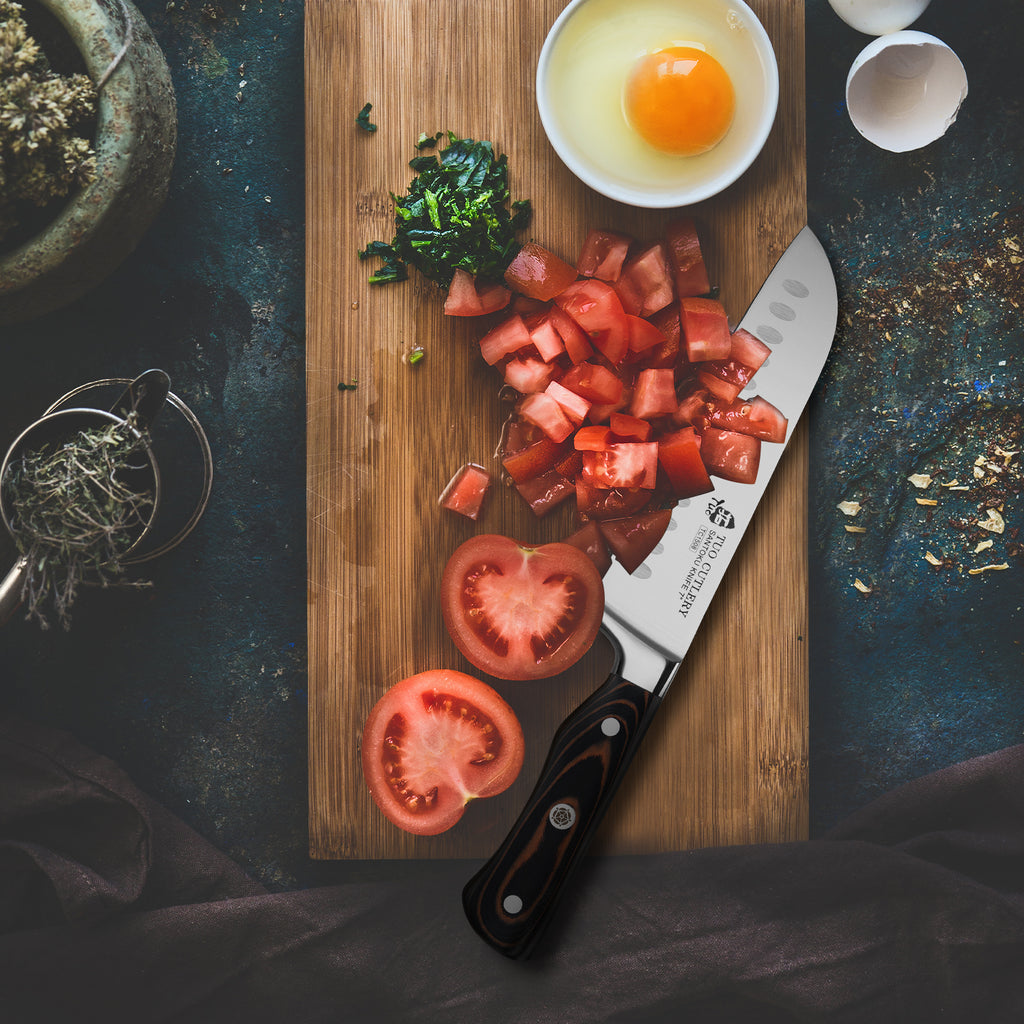 kitchen knife,santoku,tuo cutlery,legacy series,meat knife