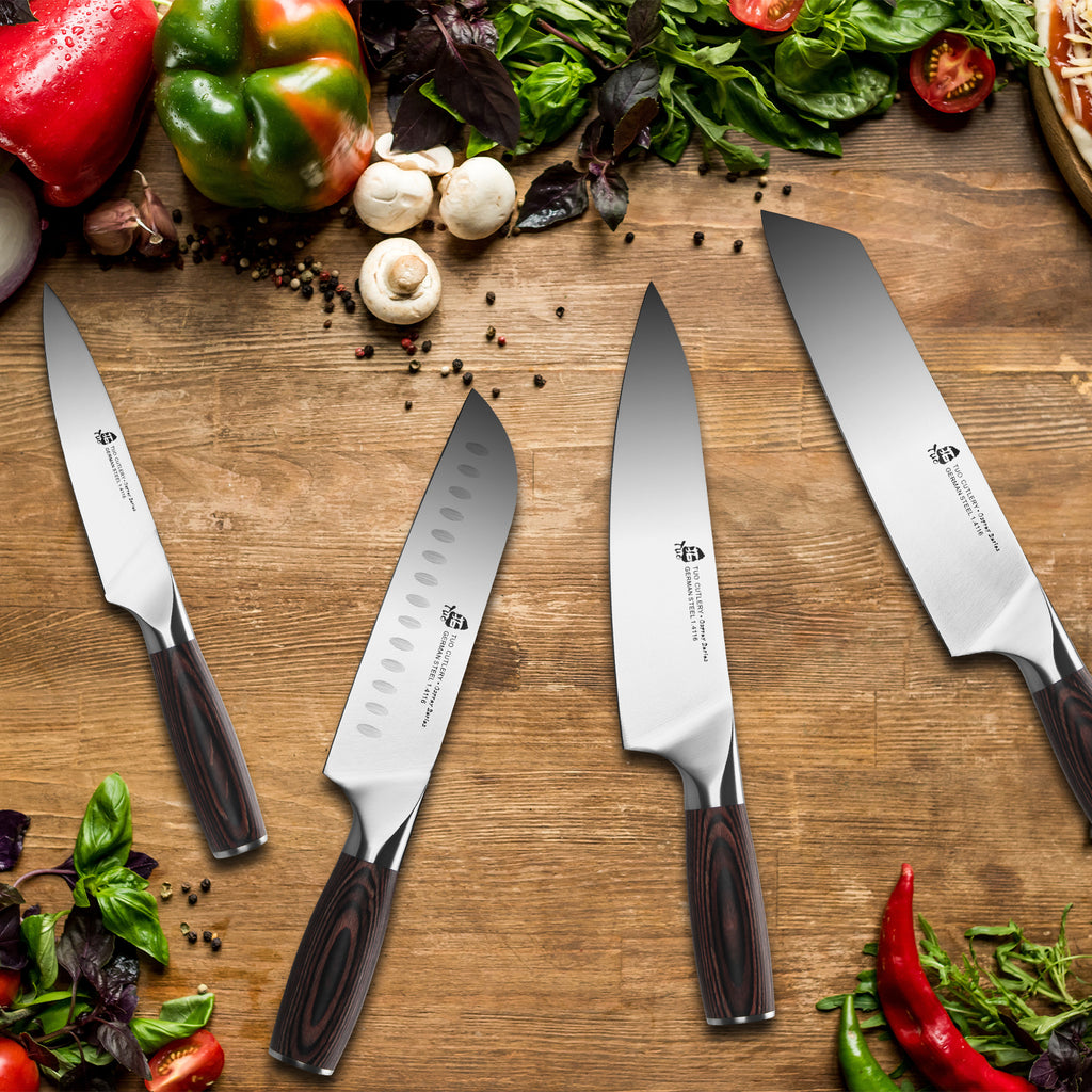 Tuo Cutlery, Utility Knife, Mini Chef's Knife, Premium High Carbon Stainless Steel, Full Tang, Ergonomics handle, Multipurpose Knife, Versatile Knife, Small Kitchen Knife, Fruit and Vegetable Cutting Knife