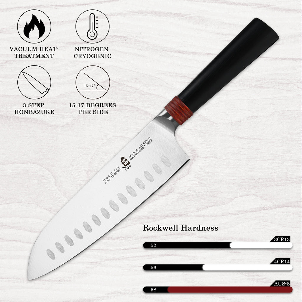 Tuo Cutlery, Japanese Knife, Santoku Knife, Asian Knife, Imarku, Chef Knife, Premium High Carbon Stainless Steel, Sharp Edge, Kitchen Knife, Cookware, Full Tang