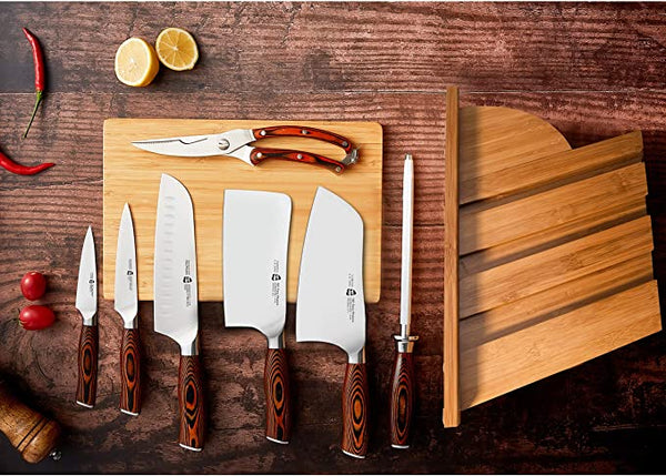 Tuo Cutlery, Chopping Knife, Chopper, Cleaver, Vegetable Cleaver Knife, Meat Cleaver Knife, Premium High Carbon Stainless Steel, Full Tang, Ergonomics handle, Kitchen Knife, Cookware, Kitchenware, Bone Cutting
