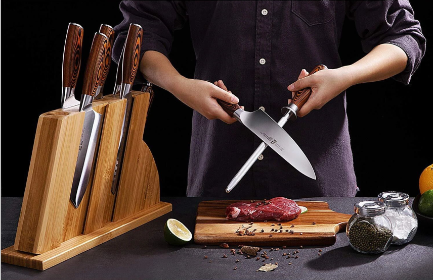Tuo Cutlery, Professional Honing Steel, Knife Sharpening Steel, Full Tang, Ergonomics handle, Kitchen Knife Sharpener, Premium High Carbon Stainless Steel, Knife Sharpening Steel