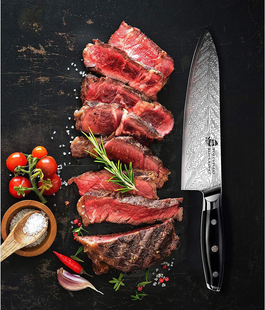 Tuo Cutlery, Professional Chef Knife, Kitchen Knife, High Carbon Stainless Steel, Razor Sharp blade, Gyuto, Full Tang,Chef's Knife, Pakkawood Handle