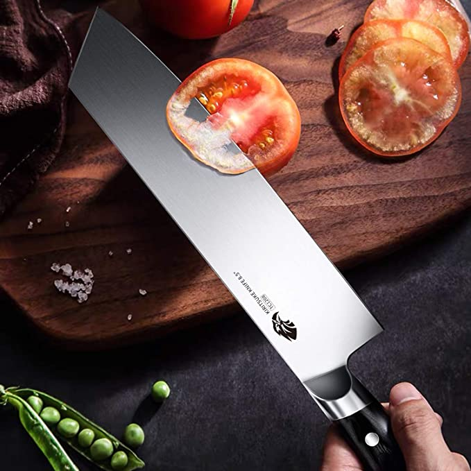 Tuo Cutlery, Kiritsuke Knife, Japanese Knife, Professional Chef's Knife,Premium High Carbon Stainless Steel, Full Tang, Ergonomics handle, Vegetable Meat Kitchen Knife, Cookware, Kitchenware, Super sharp blade