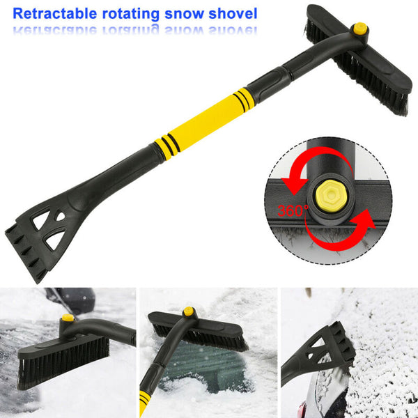 Car Glass Snow Brush Ice Scraper Removal PVC Retractable Brush Frost Removal Tool Easy To Remove Snow