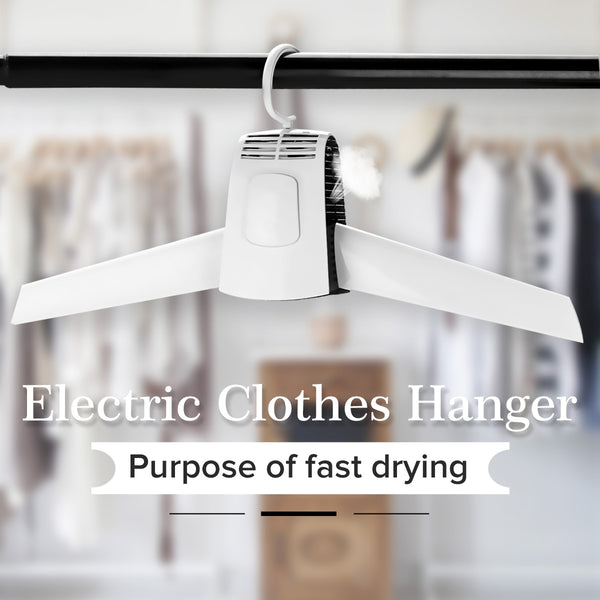 Electric Clothes Drying Rack Clothes Hanger Dryer Travel Portable Foldable Shoes Dryer(US Plug)