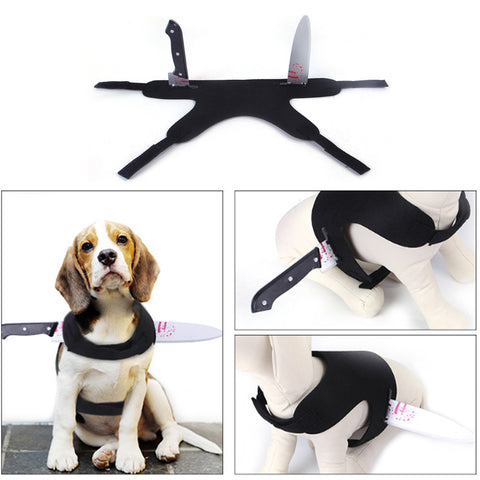 Pet Clothes Halloween Creative Funny Dog/Cat Costume Wrenches/Knife/Bottle