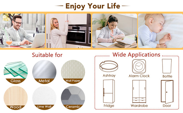 Door Stopper Wall Protector, 62 PCS Silicone Self-adhesive Door Knob Guard Noise Dampening Buffer