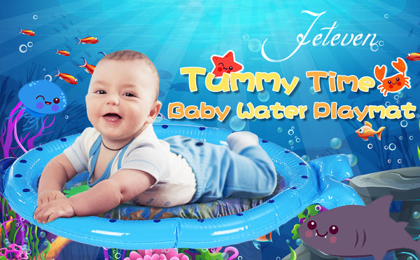 Tummy Time Water Play Mat Infant Toy for Baby, Newborn, Toddler, Fun Play Activity Center