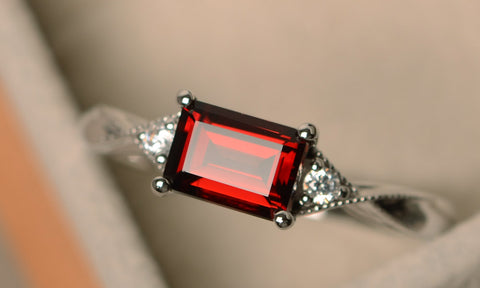 A beautiful ring featuring the January birthstone, Garnet