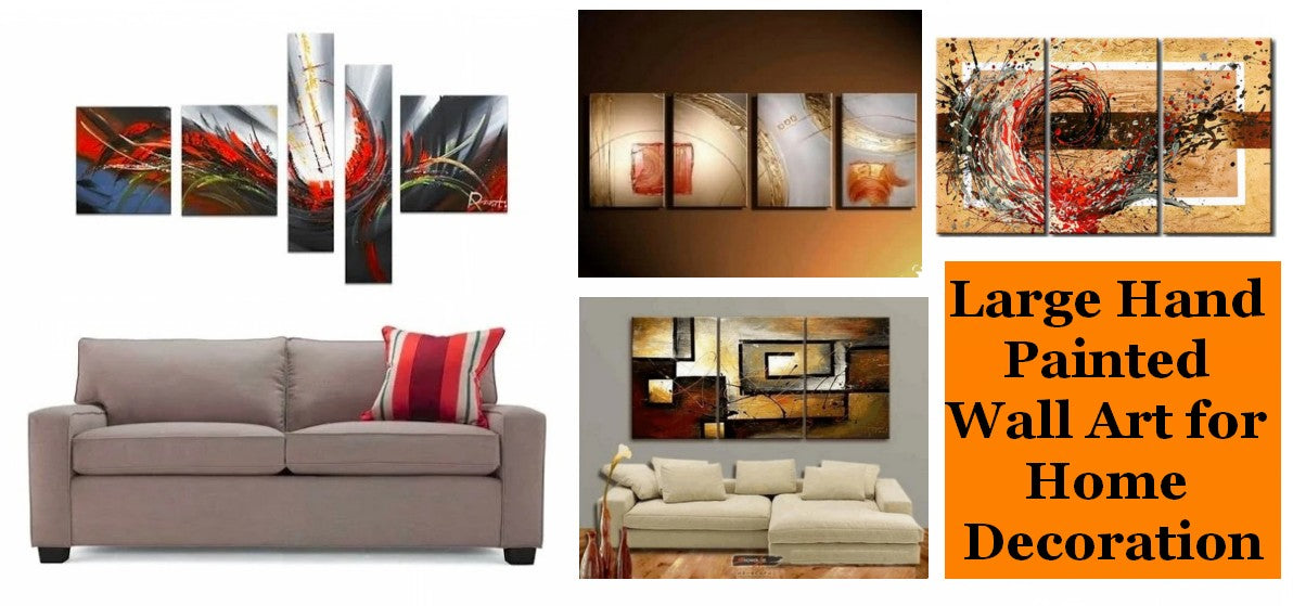Abstract Paintings for Living Room, Modern Acrylic Painting on Canvas, Hand Painted Canvas Art, Bedroom Wall Art Paintings