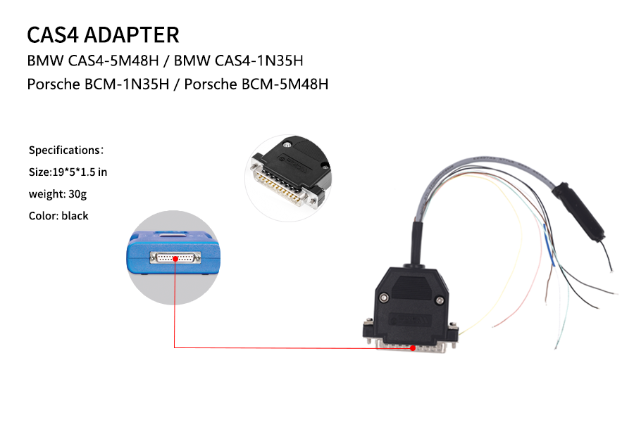 CAS4 Adapter New DB25 Adapter No Need Soldering for CG Pro 9S12 Programmer
