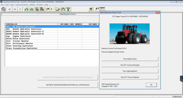 CNH DPA5 Software Display