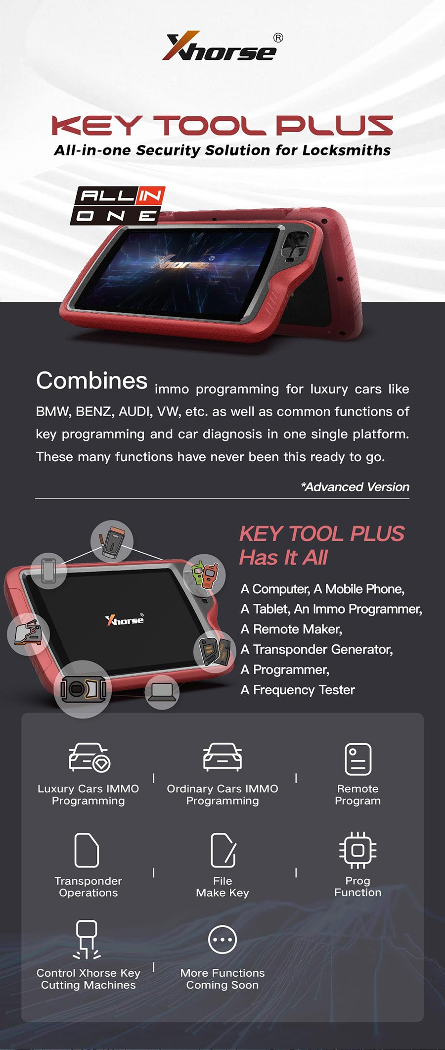 Xhorse VVDI Key Tool Plus Pad Device Full Configuration