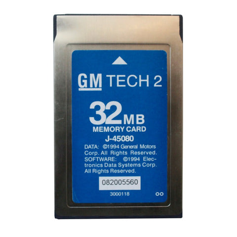 GM Tech 2 Software 32MB Card