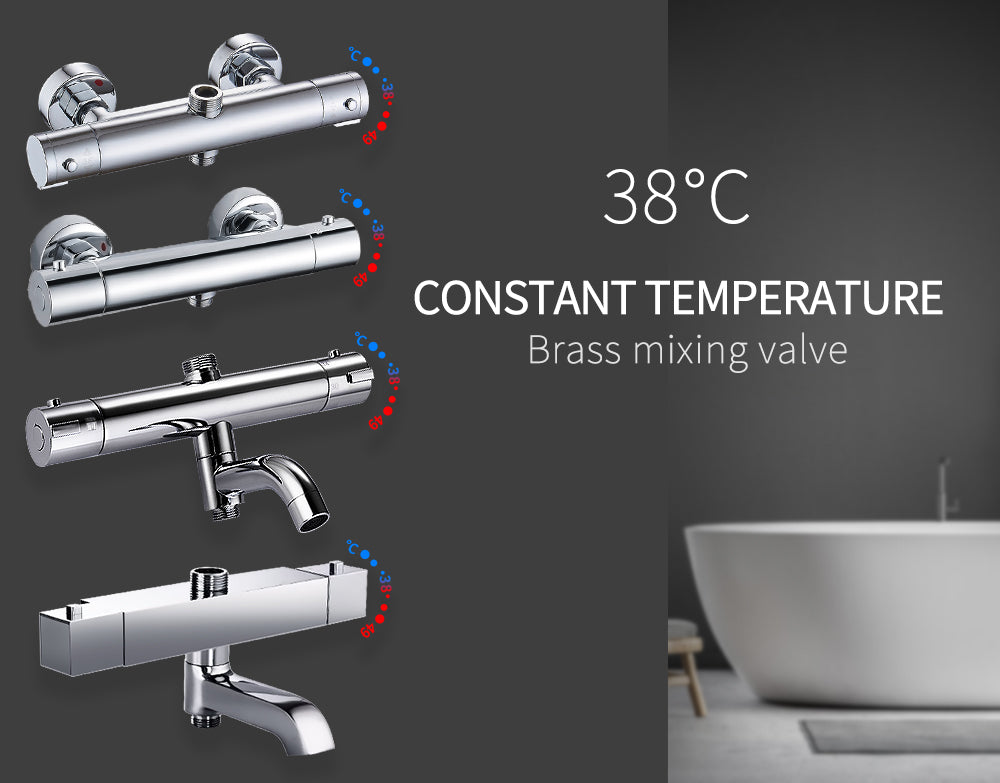 Bathroom Shower Mixer Brass Thermostatic Shower Faucet