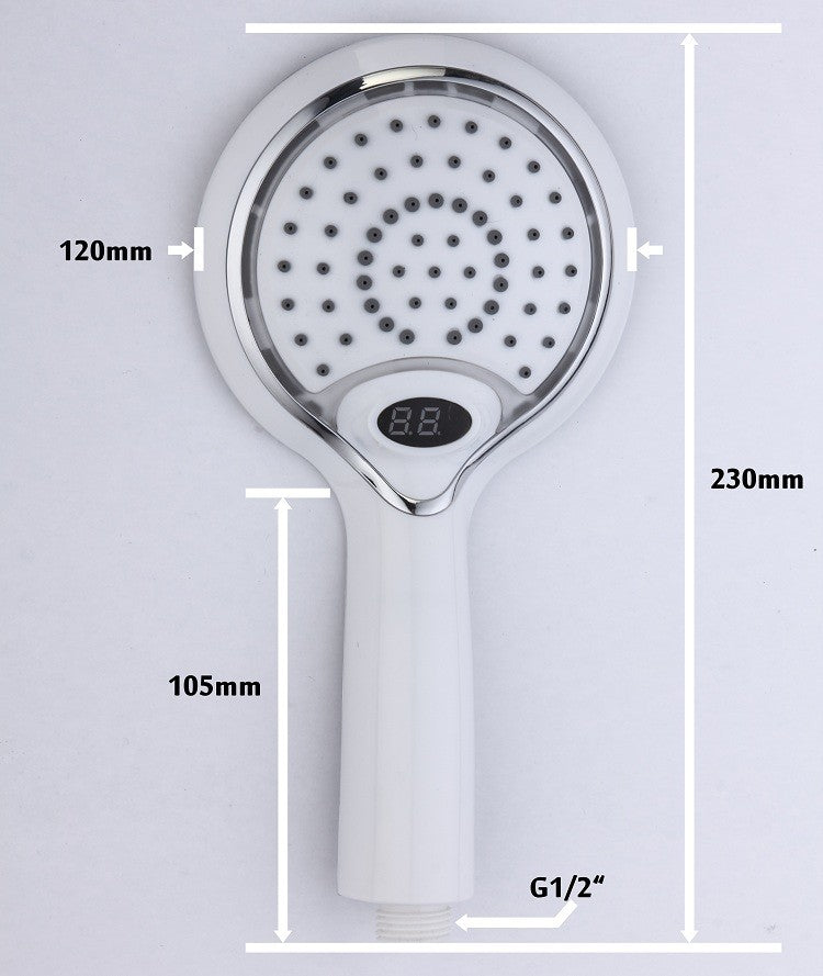 3 Colors Led Shower head With Temperature Digital Display