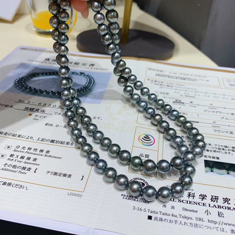 tahitian gray pearl necklace