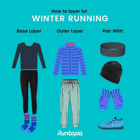 Layering clothes for winter runs