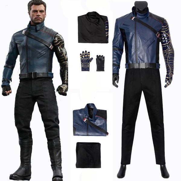 The Falcon And The Winter Soldier Bucky Barnes Cosplay Costume For Sale