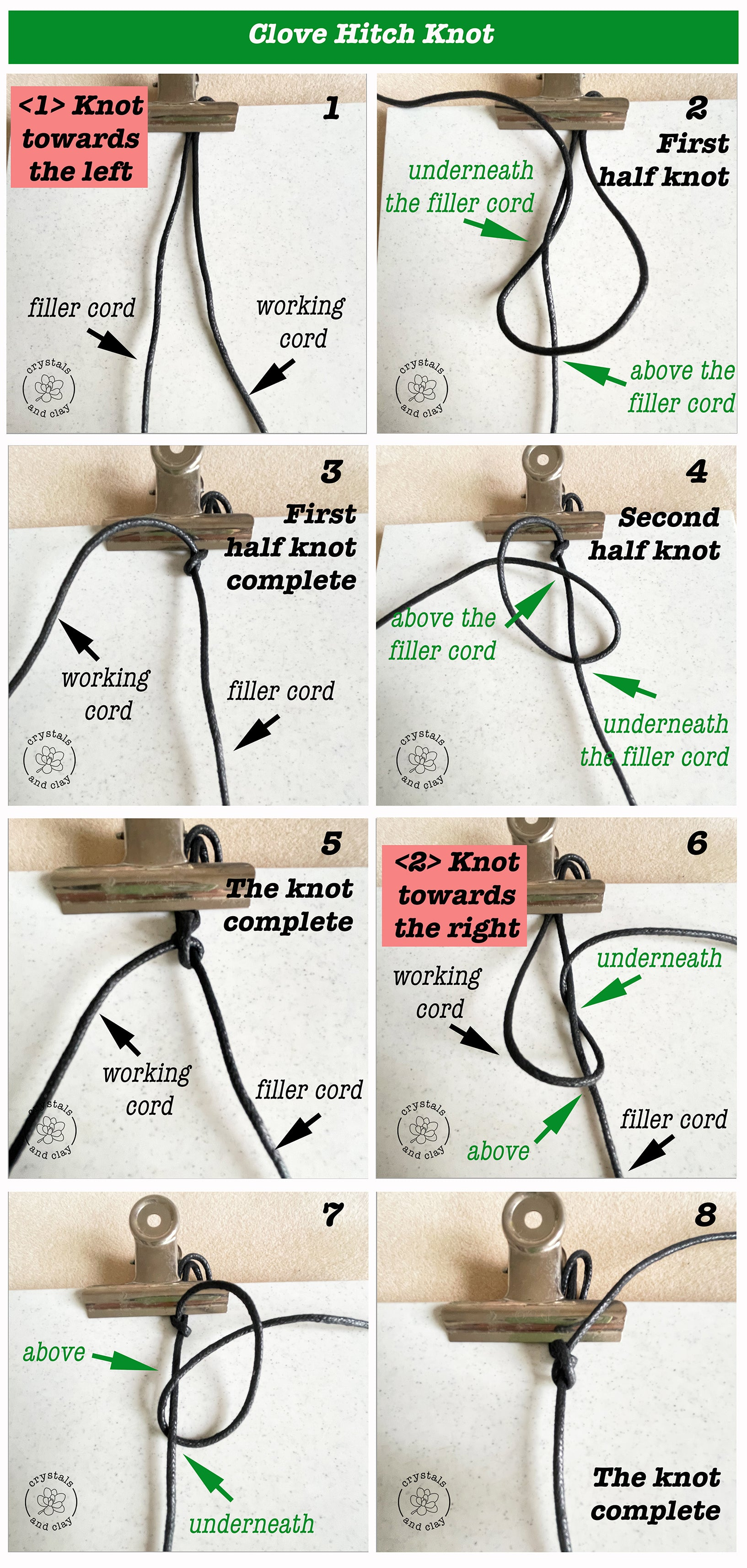how to make clove hitch knot