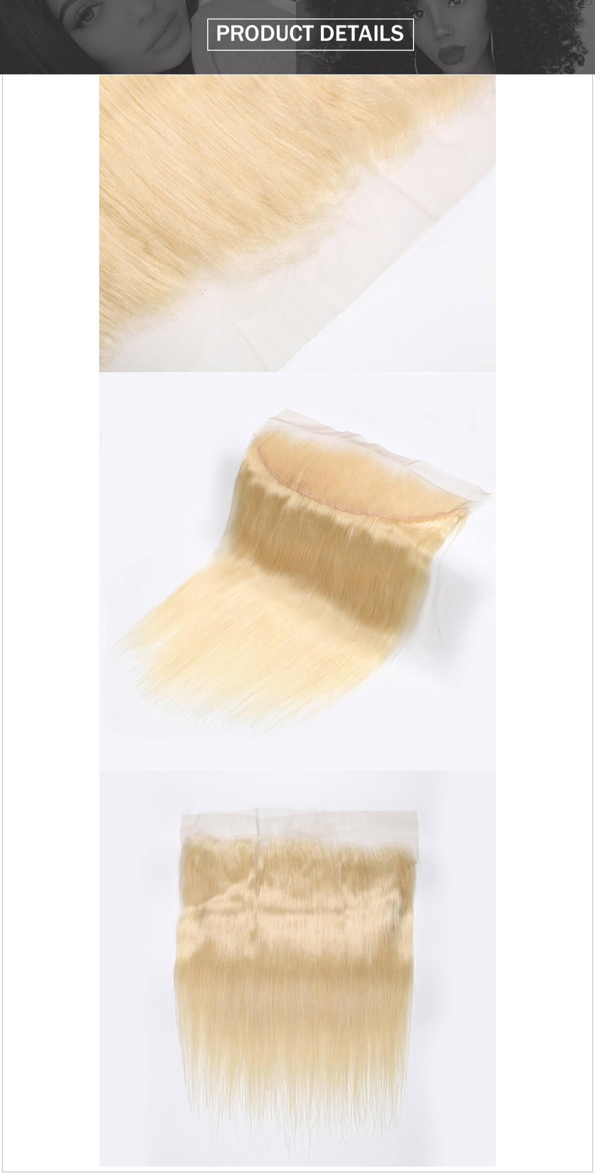 #613 blonde hair straight hair lace frontal