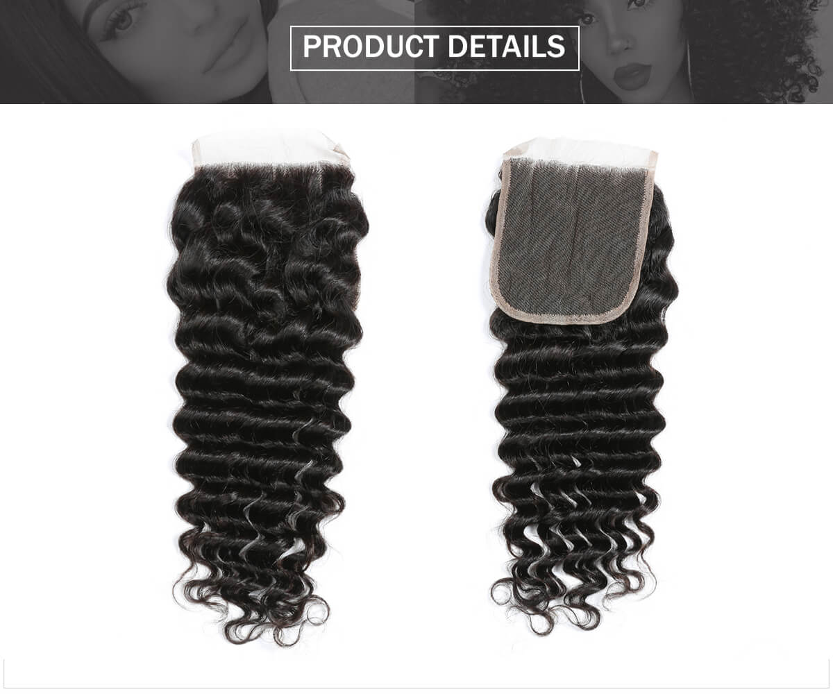 deep wave 4*4 lace closure