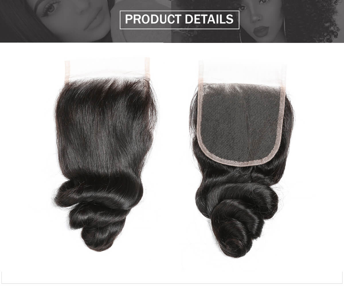 loose wave 4*4 lace closure