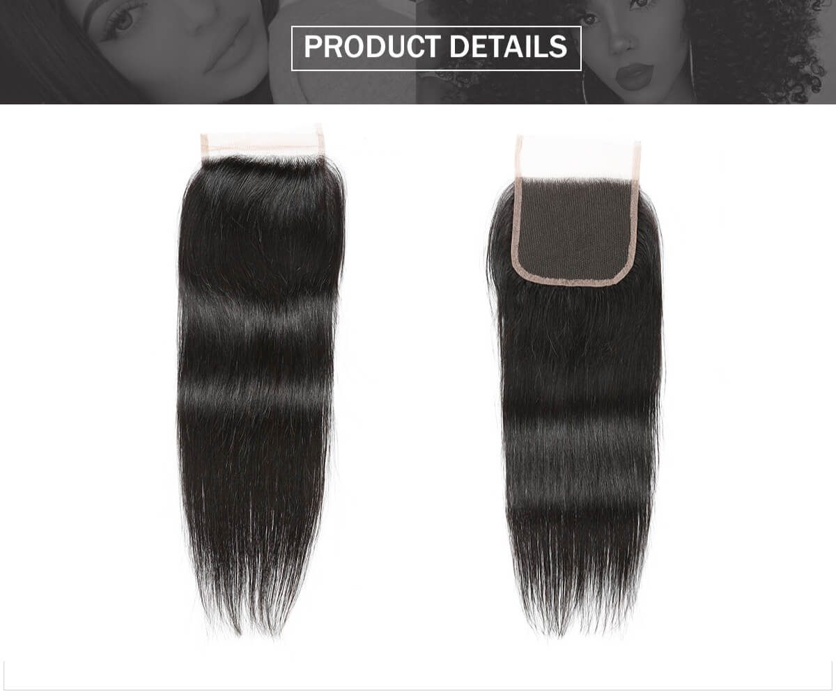 straight hair 4*4 lace closure