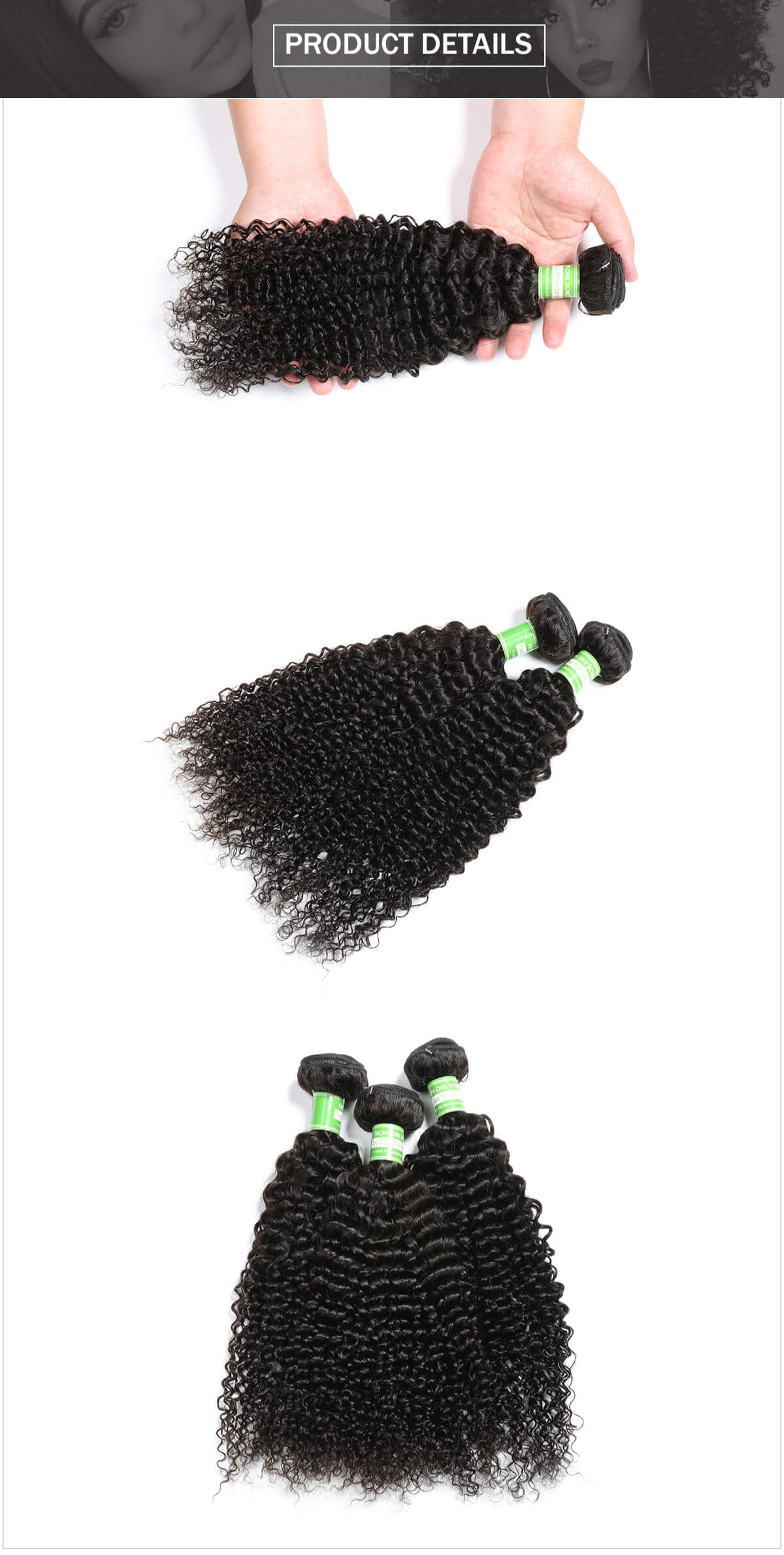 Indian hair curly hair bundle
