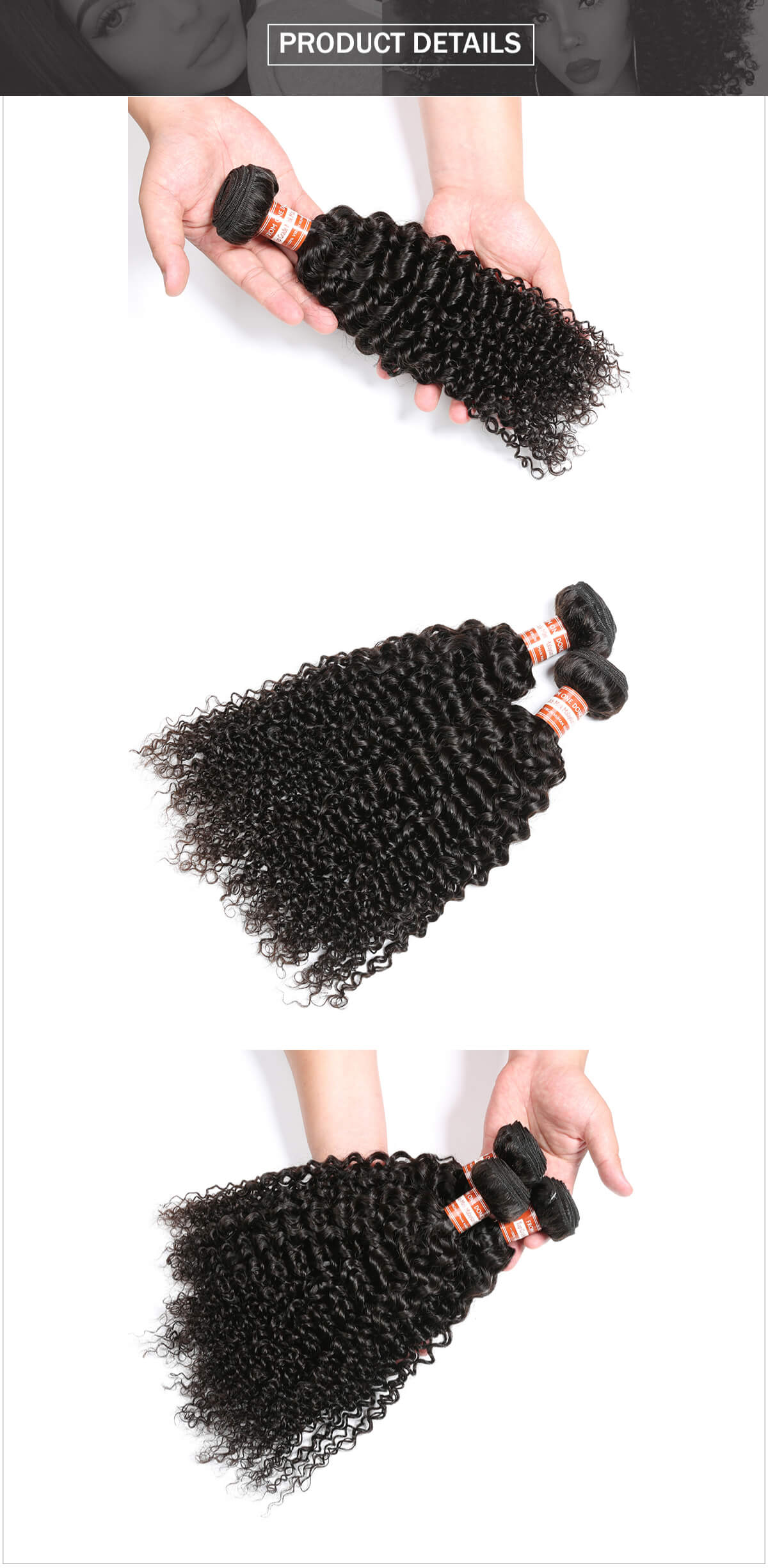 Malyasian hair curly hair bundle