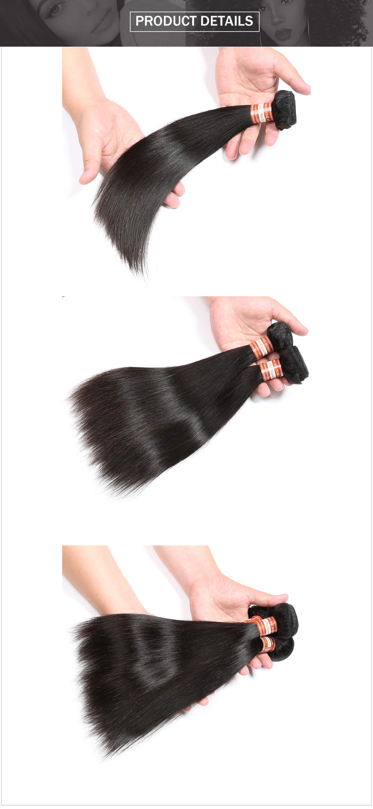 Malaysian hair straight hair bundle