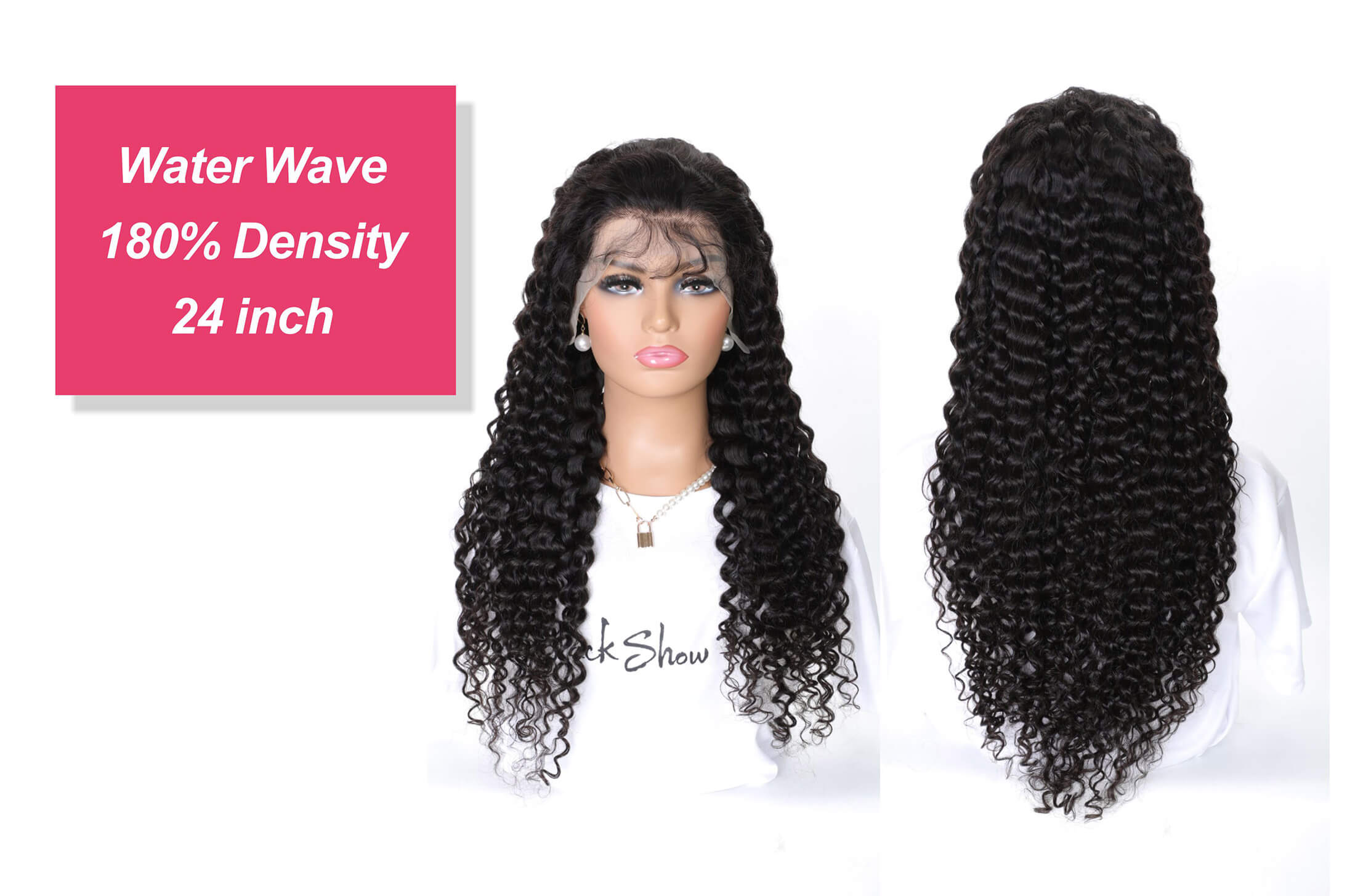 water wave transparent lace frontal wig