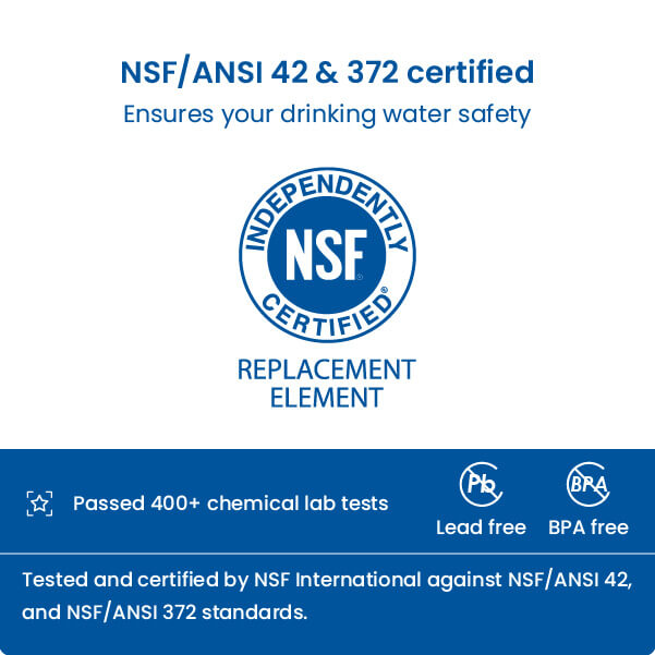 Qualified NSF certified refrigerator filter