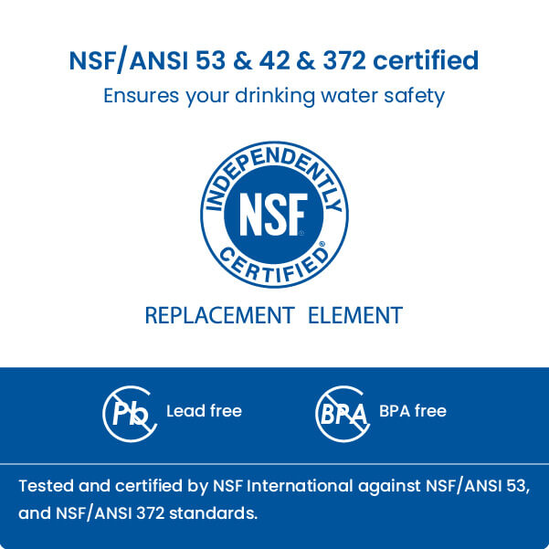Upgraded NSF certified refrigerator filter