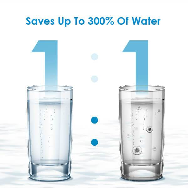 save up to 300% of water