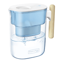 Water Filter Pitcher, Chubby Blue / White