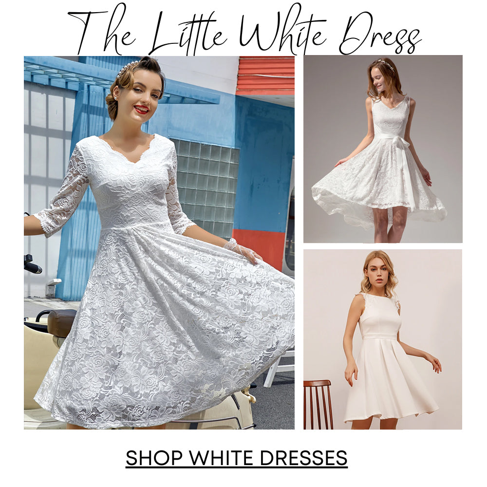 White Lace Homecoming Dresses