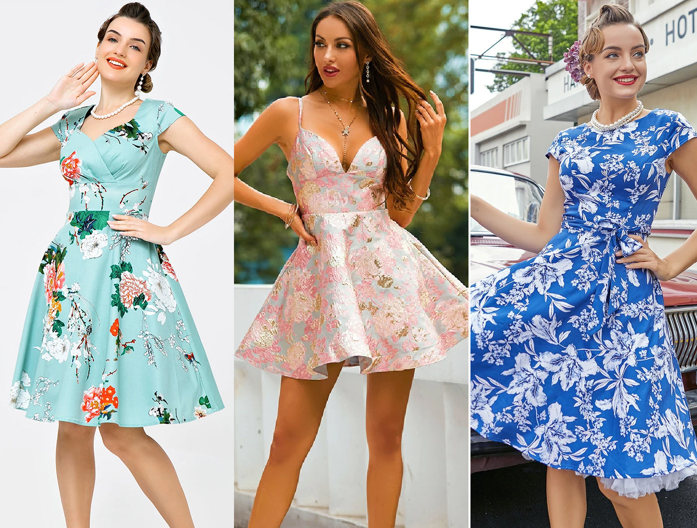 floral-homecoming-dresses